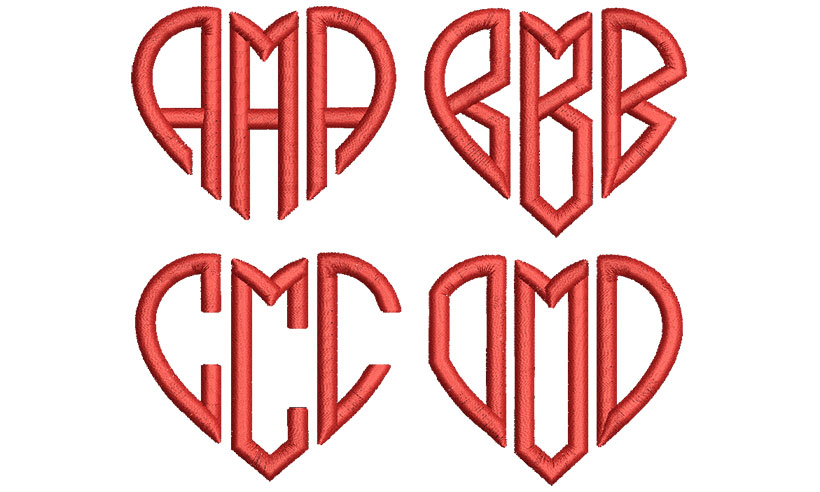 Hearts Mono esa font letters icon