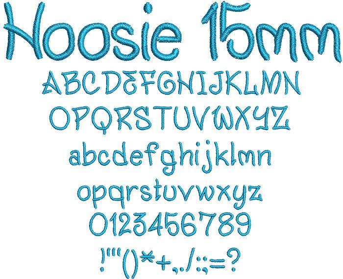 Hoosie 15mm Font