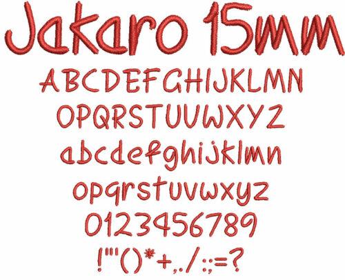 Jakaro 15mm Font