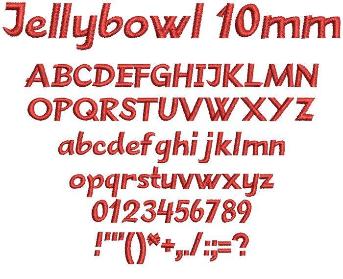 Jellybowl 10mm Font