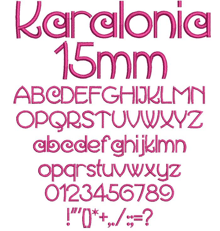 Karalonia 15mm Font