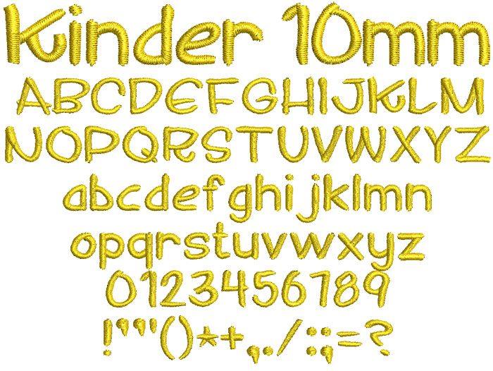 Kinder 10mm Font