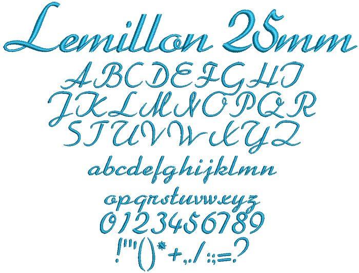 Lemillon 25mm Font