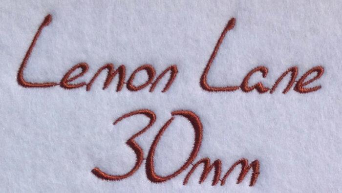 Lemon Lane esa font sew out