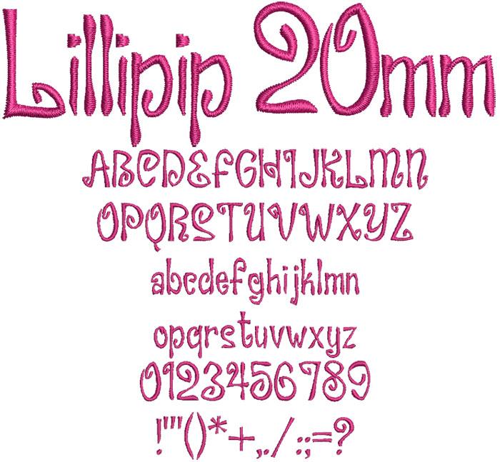 Lillipip 20mm Font