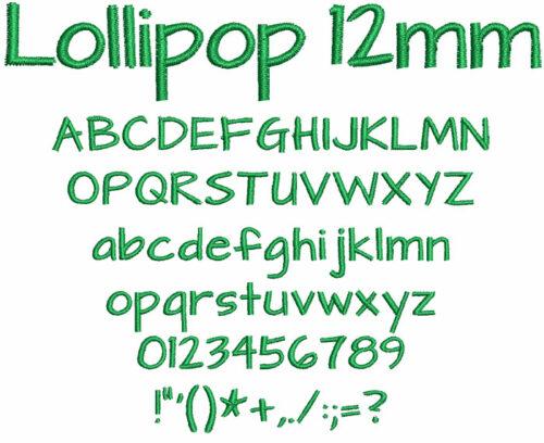 Lollipop 12mm Font