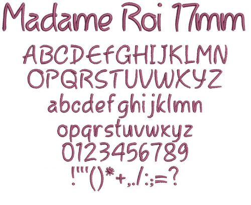 Madame Roi 17mm Font