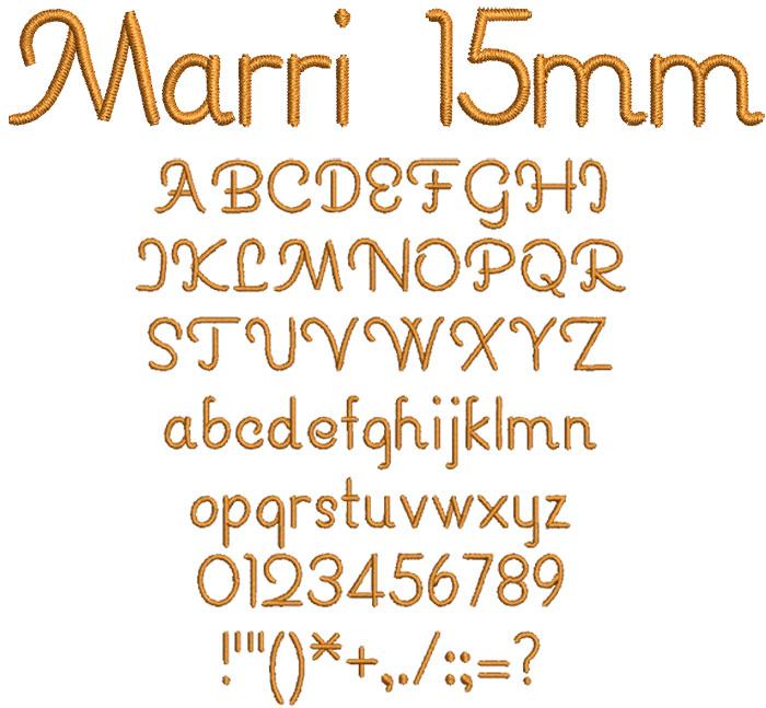 Marri 15mm Font