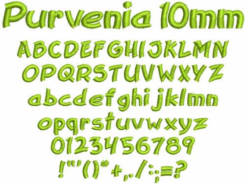 Purvenia 10mm Font