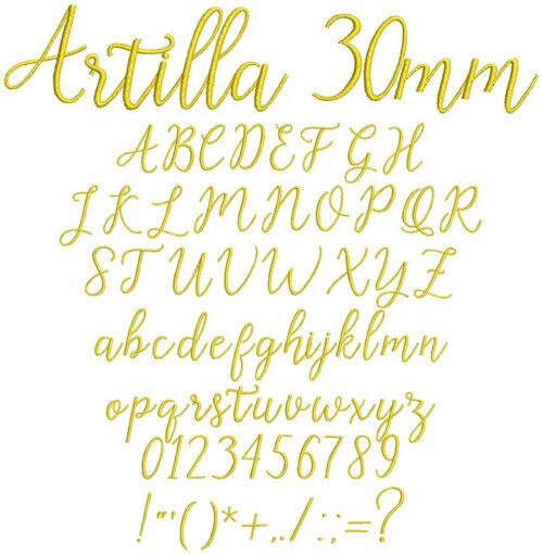 Artilla 30mm Font