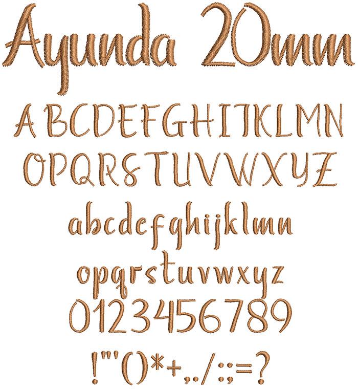 Ayunda 20mm Font