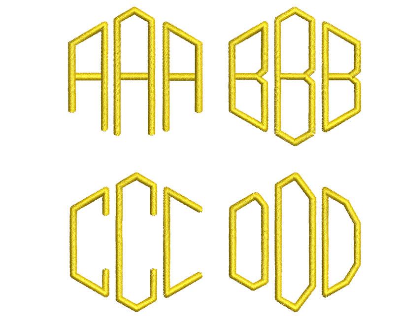Beehive monogram esa font letters icon