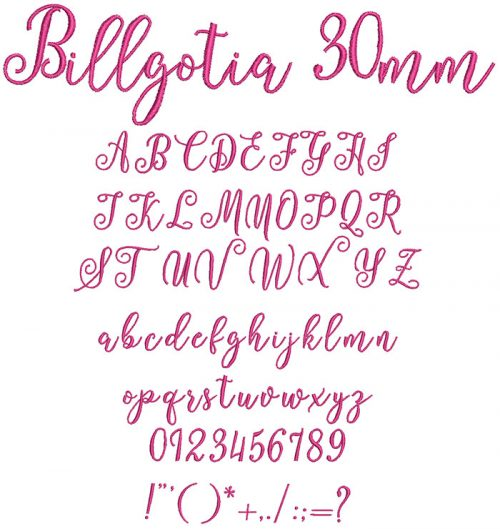 Billgotia 30mm Font