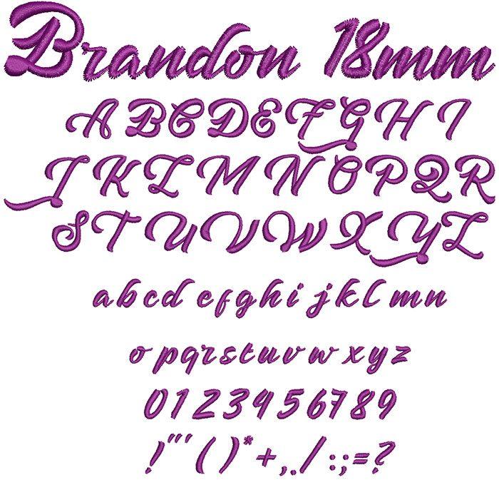 Brandon 18mm Font