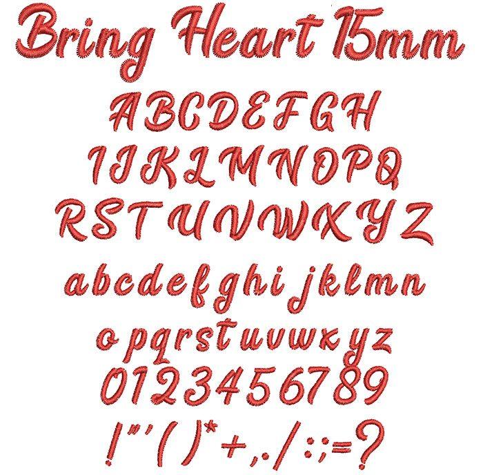 Bring Heart 15mm Font