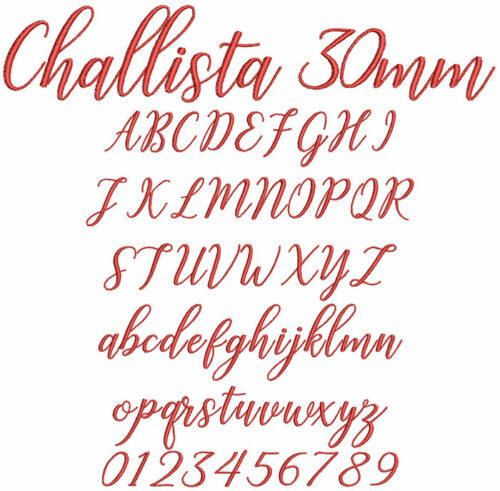 Challista 30mm Font