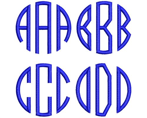 Circle 2 monogram esa letters icon