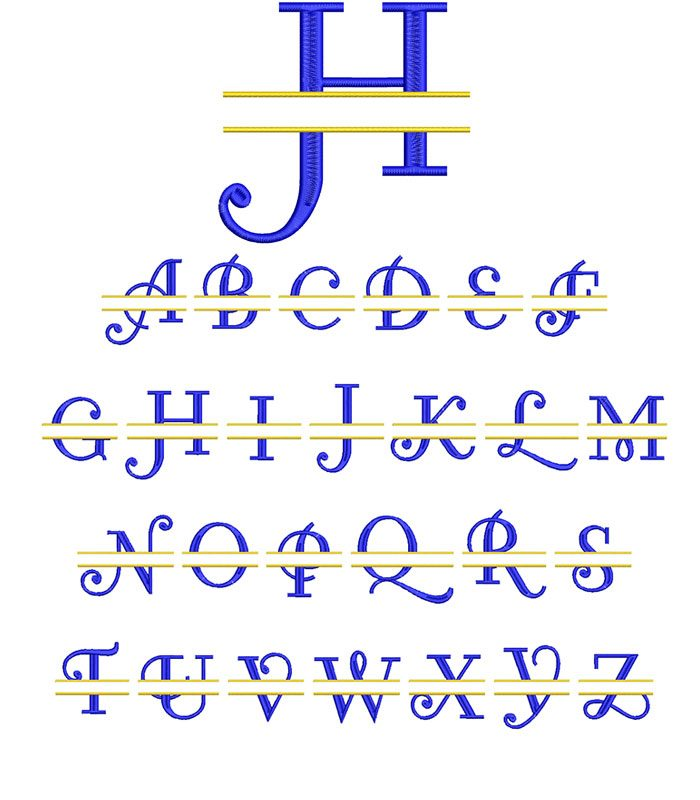 Curl Split Monogram