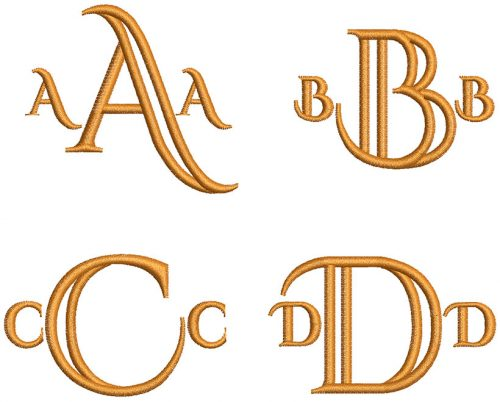 Deco monogram esa font letters icon