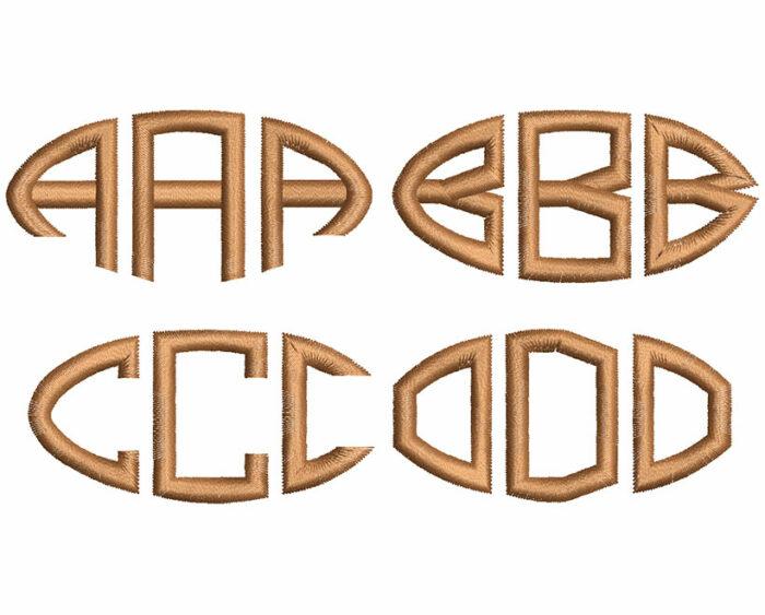 Football monogram esa font letters icon