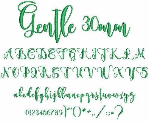 Gentle 30mm Font