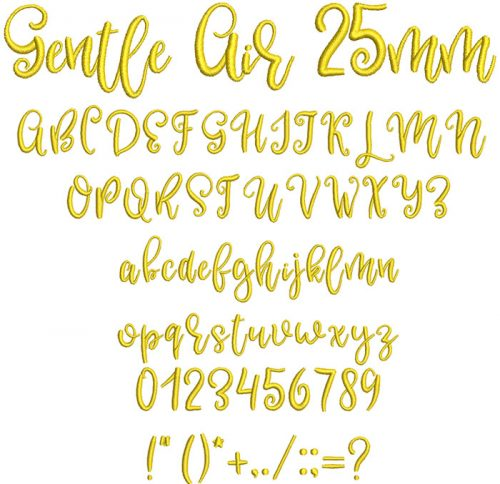 Gentle Air 25mm Font