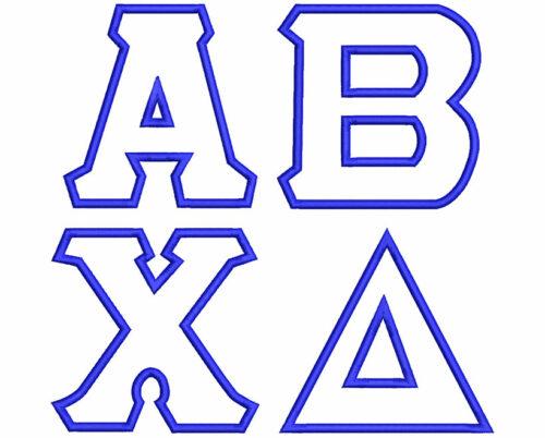 Greek applique esa font letters icon