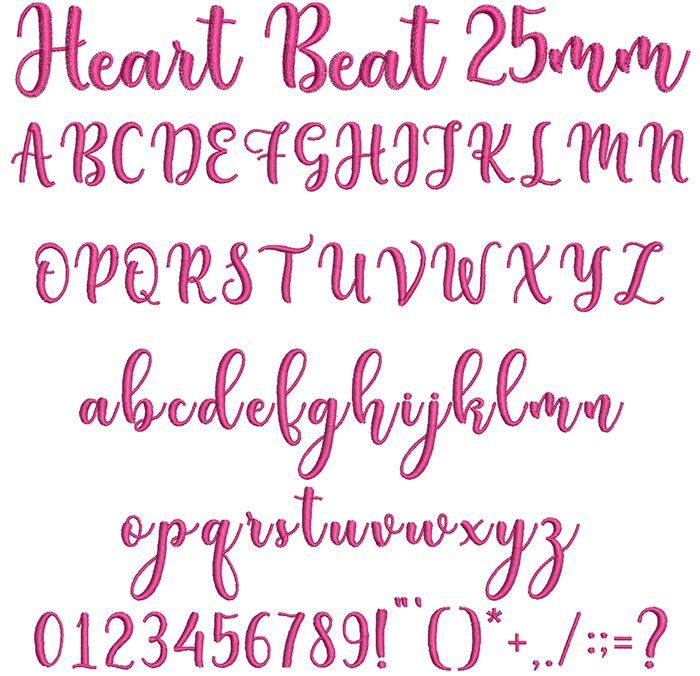 Heart Beat 25mm Font