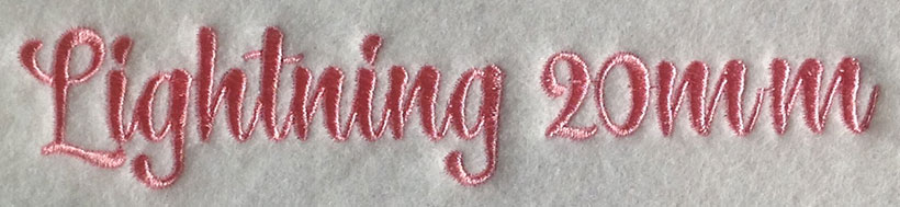 Lightning font sew out