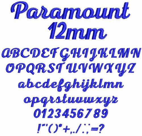 Paramount 12mm Font