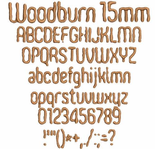 Woodburn 15mm Font
