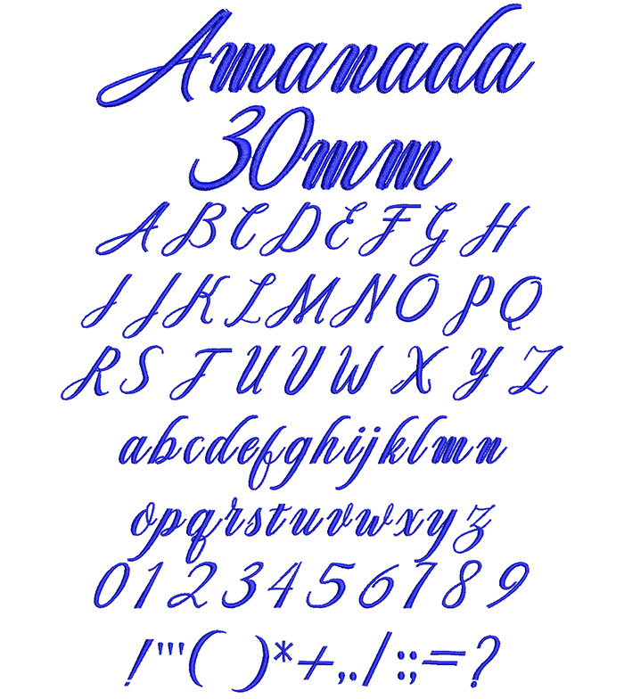 Amanada 30mm Font