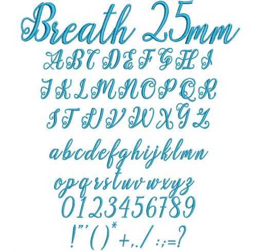 Breath 25mm Font