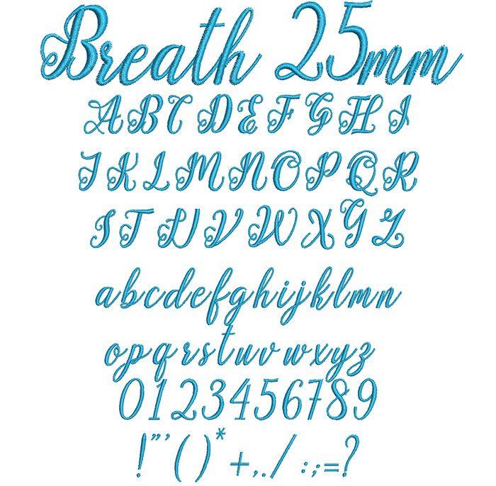 Breath 25mm Font