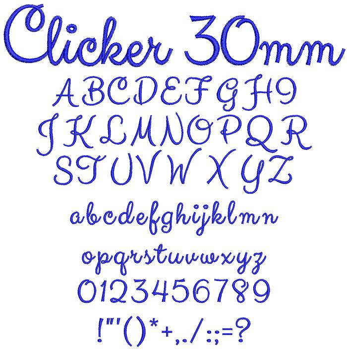 Clicker 30mm Font