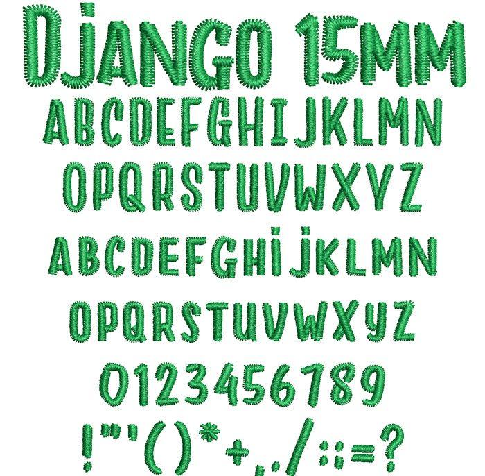Django 15mm Font