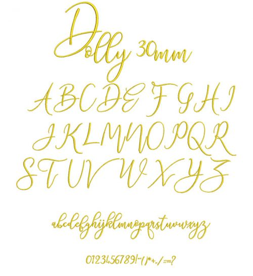 Dolly 30mm Font