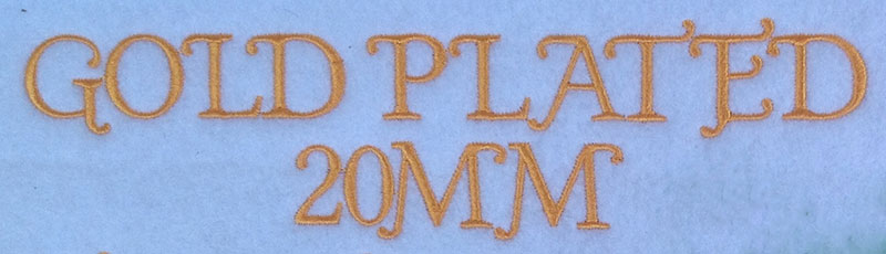 Gold Plated esa font sew out