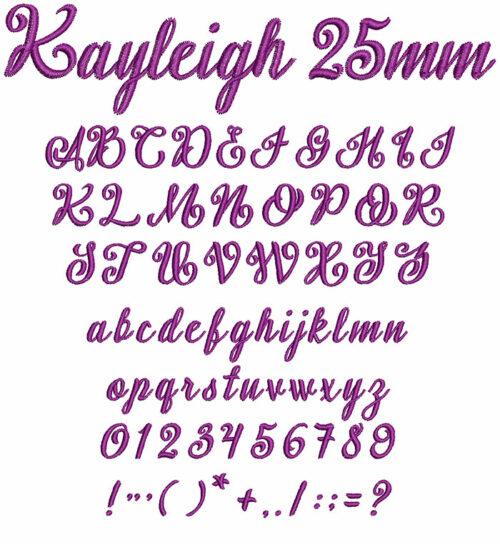Kayleigh 25mm Font