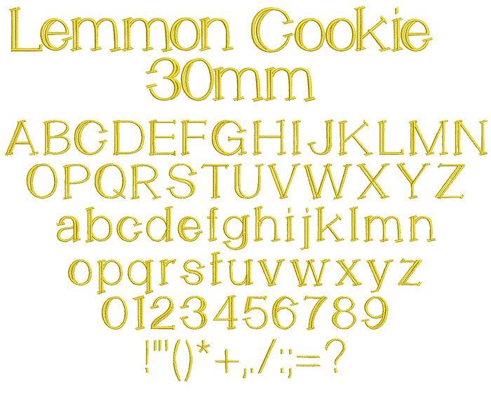 Lemmon Cookie 30mm Font