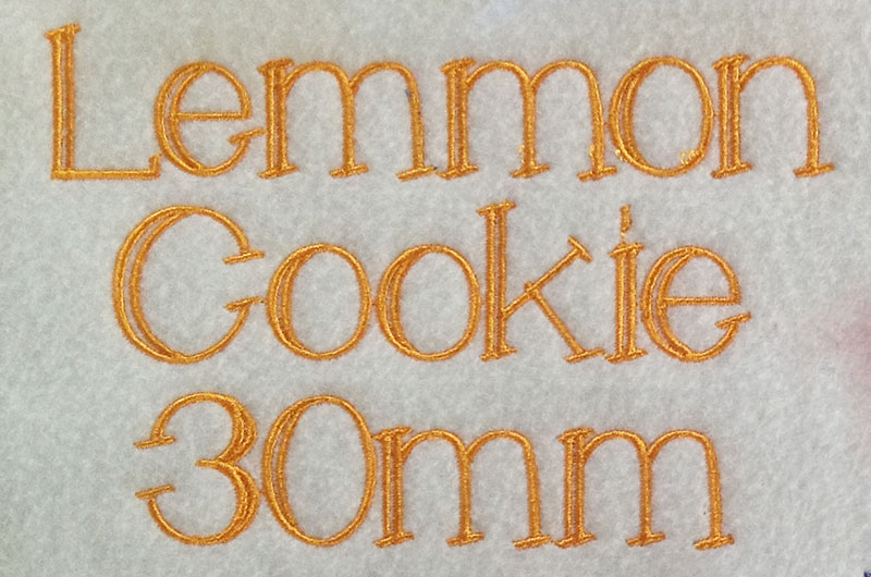 Lemmon Cookie esa font sew out