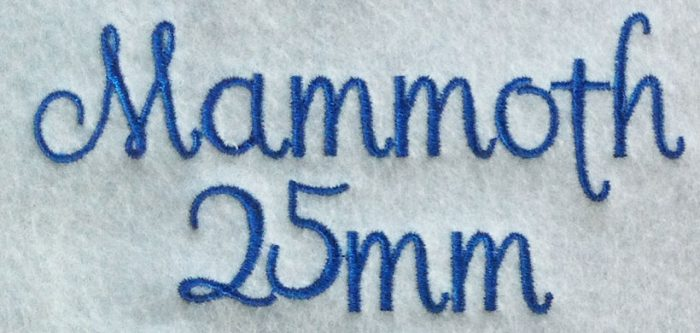 Mammoth esa font sew out