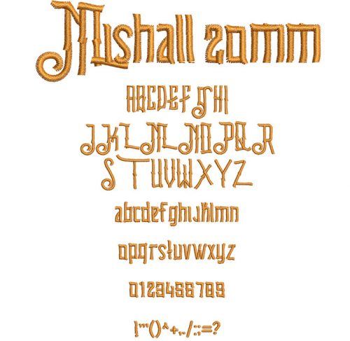 Mishall 20mm Font