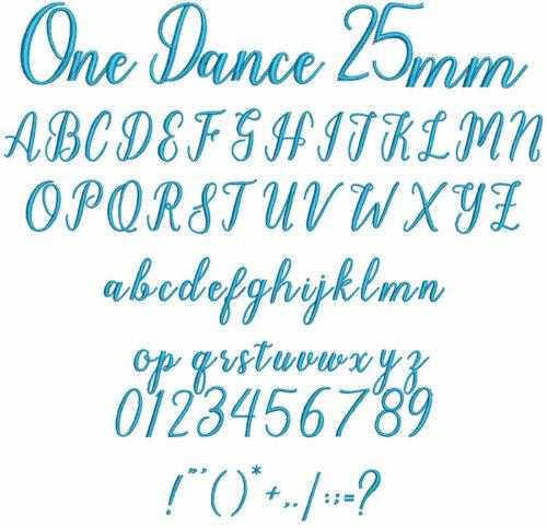 One Dance 25mm Font
