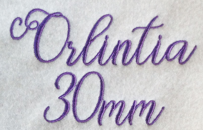 Orlintia esa font sew out