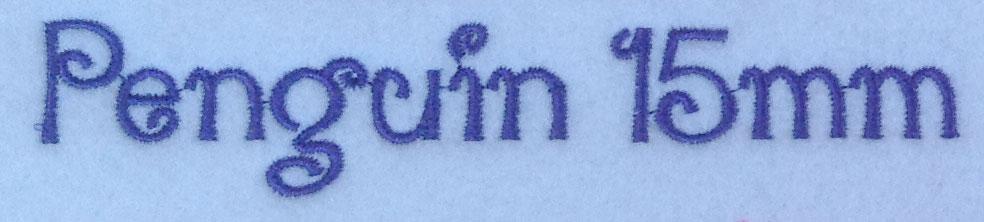Penguin esa font sew out