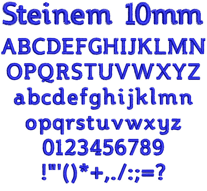 Steinem 10mm Font
