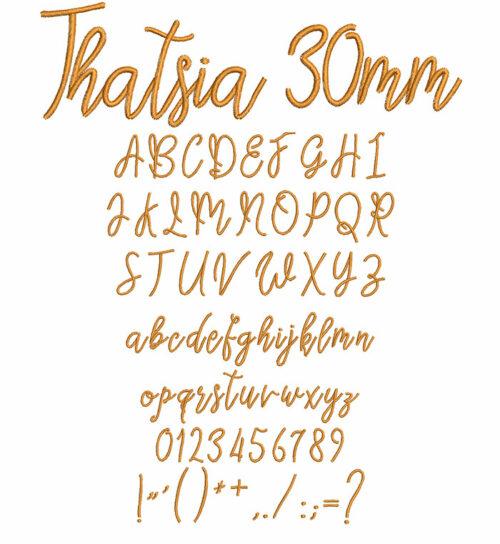 Thatsia 30mm Font