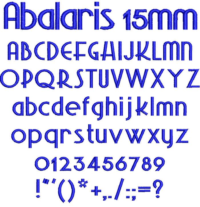 Abalaris 15mm Font 1