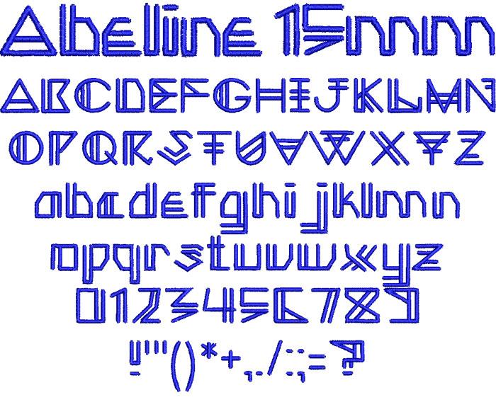Abeline 15mm Font 1